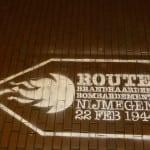 krijt graffiti route bombardement nijmegen