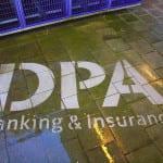 dpa banking & insurance reverse graffiti