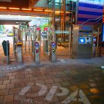 green graffiti treinstation amsterdam