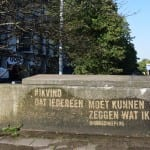 reverse graffiti muurtje