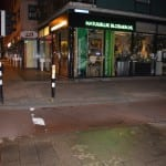 green graffiti rotterdam op straat voor subway