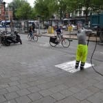 straatreclame met water