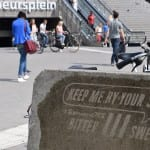 reverse graffiti jaarbeursplein