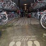green graffiti fietsenrek Groningen
