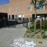 straatreclame met krijt graffiti mundo