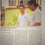 krantenartikel respect voor het milieu