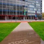 universiteit delft met reverse graffiti