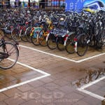 clean advertising fietsenstallind centraal station delft