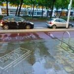 clean advertisinig op straat in rotterdam