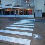 tijdelijk zebrapad krijt van nellefabriek