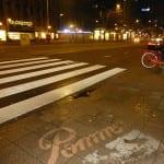 reverse graffiti coolsingel rotterdam voor Pomms'