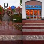 duurzame straatreclame met reverse graffiti