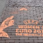 EK voetbal voor vrouwen krijt graffiti euro 2017