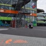 EK voetbal voor vrouwen krijt graffiti