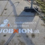 Chalk graffiti Jobxion