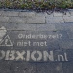 Reverse graffiti Jobxion